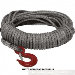 Corde de Treuil Synthétique T-MAX Ø9.4mm x 15m