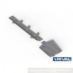 Protection Alu 4mm RIVAL Réservoir + Durites Carburant Dacia Duster I et II