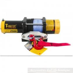 Treuil T-MAX ATW-2500 1135kg 12v Pro Series Avec Câble Synthétique