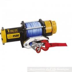 Treuil T-MAX ATW-3500 1590kg 12v Pro Series Avec Câble Synthétique