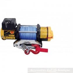Treuil T-MAX ATW-4500 2040kg 12v Pro Series Avec Câble Synthétique