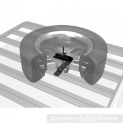 Support de roue de secours sur galerie FRONT RUNNER Slimline II